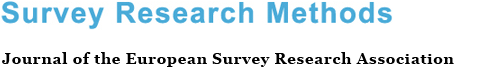 Survey Research Methods. Journal of the European Survey Research Association